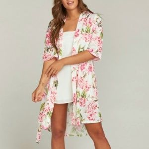 Show Me Your Mumu Brie robe floral roses pink NWOT